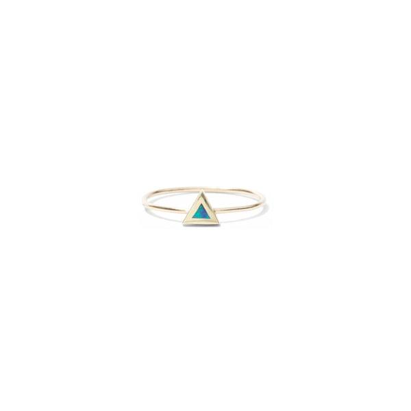 Jennifer Meyer Opal Inlay Mini Triangle Ring
