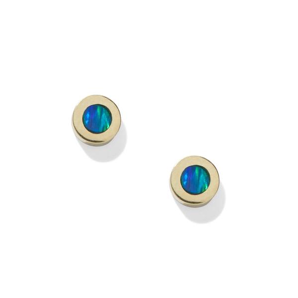 Jennifer Meyer Opal Inlay Circle Studs