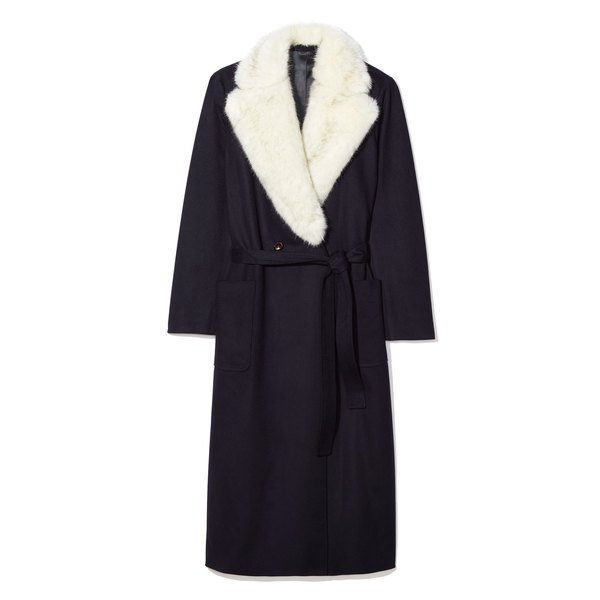 LodenTal Faux Fur Robe Coat
