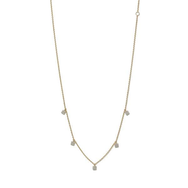 Eriness Diamond Mini Square Necklace