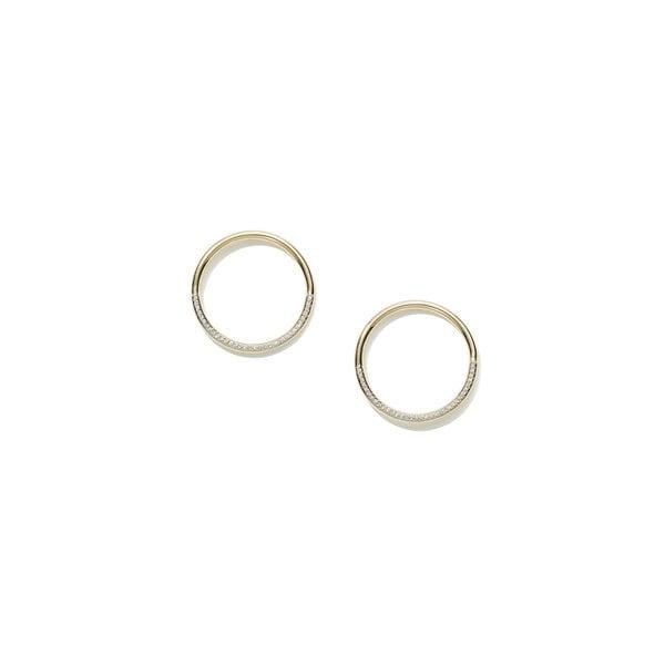 Eriness Half-Diamond Loop Earrings