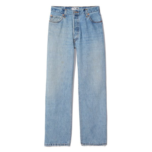 RE/DONE Ultra-High-Rise Straight Leg Jeans