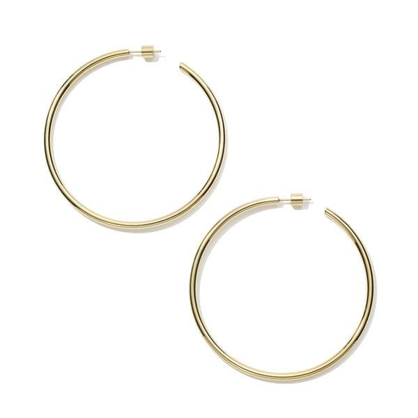 """Jennifer Fisher Classic Hollow Hoop Earrings, 2.5"""""""