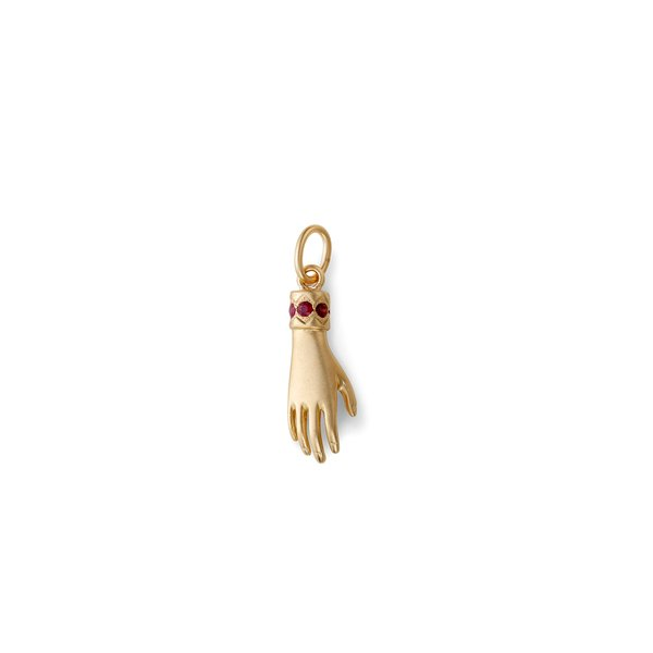 Michelle Fantaci Ruby Hand Charm