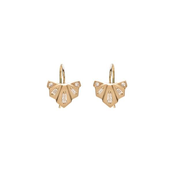 Michelle Fantaci Diamond Nomad Fan Drop Earrings