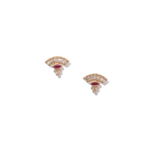 Michelle Fantaci Ruby Fan Marquis Earrings
