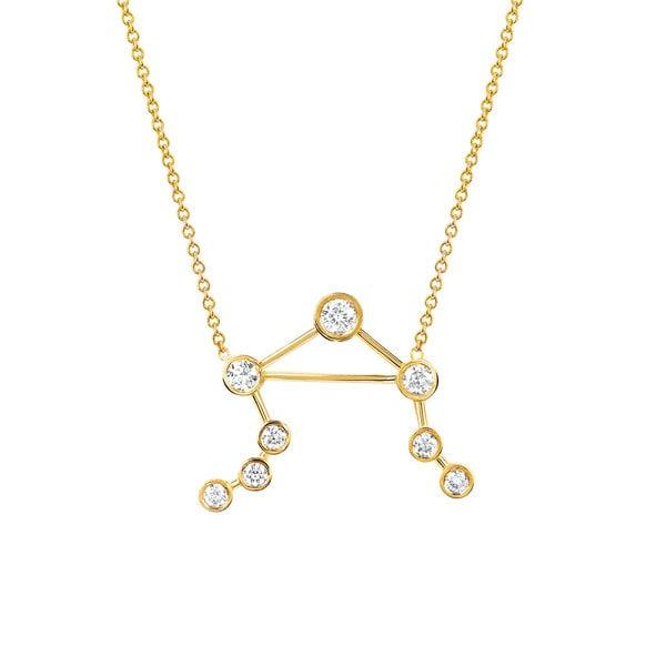 Logan Hollowell Libra Diamond Constellation Necklace