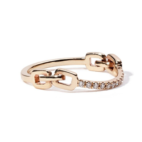 Sophie Ratner Classic Hinge Pave Ring