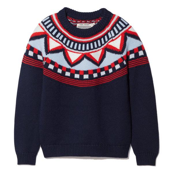 Tory Sport Performance Merino Fair Isle Sweater
