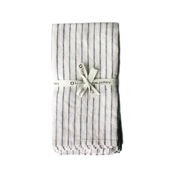 Farmhouse Pottery  Stripe Napkin Set of 4