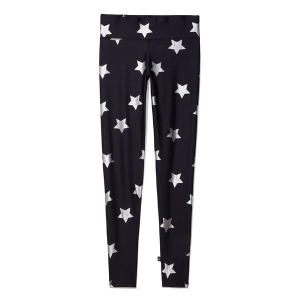 Terez Metallic Silver Star Leggings
