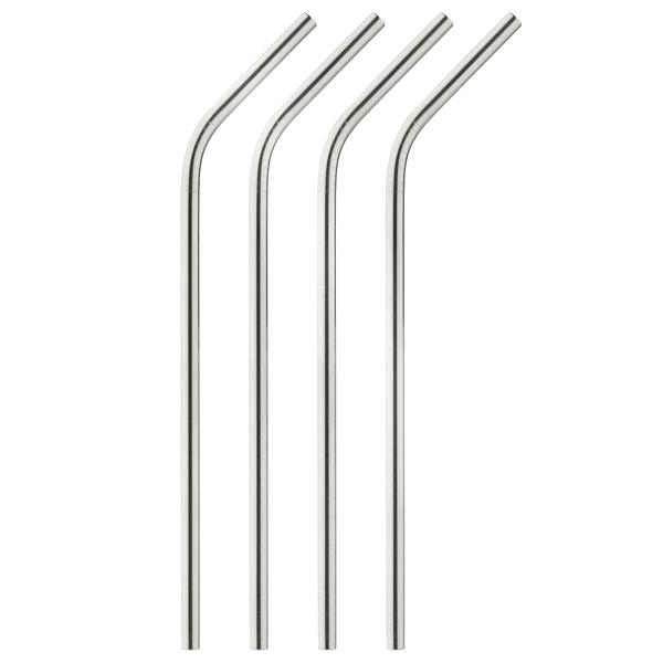 Onyx  Stainless Steel Straws, Set of 4