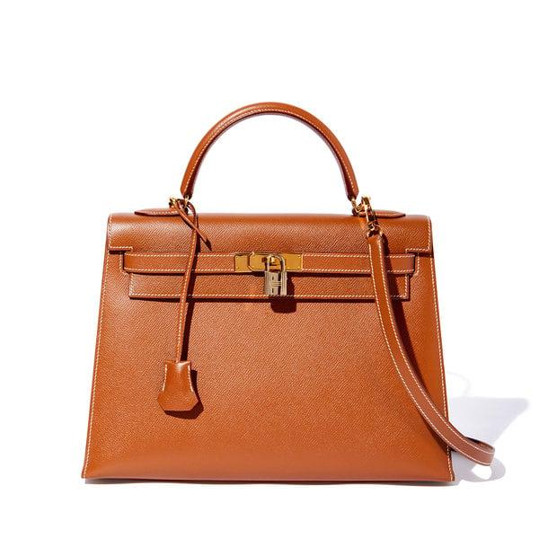 What Goes Around Comes Around Hermès Vintage Courchevel Kelly Bag