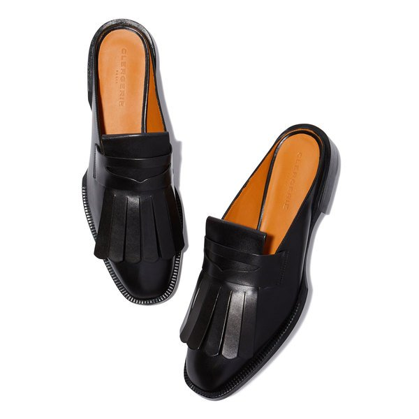 Clergerie Yumi Leather Slides
