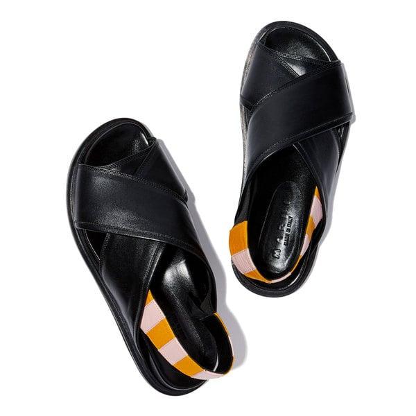 Marni Slingback Contrast Sandals