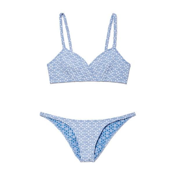 Lisa Marie Fernandez Yasmin Two-Tone Seersucker Bikini
