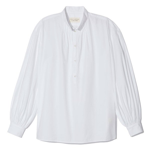 Nili Lotan Claira Cotton Button-Up Top