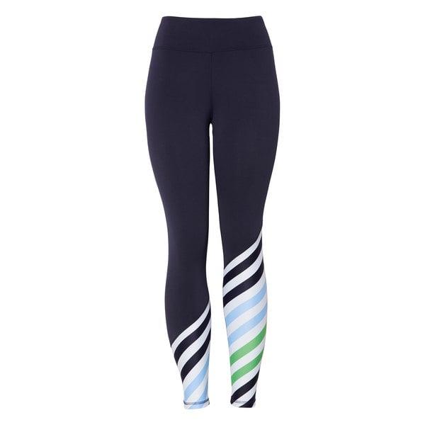 Tory Sport Diagonal Stripe Leggings