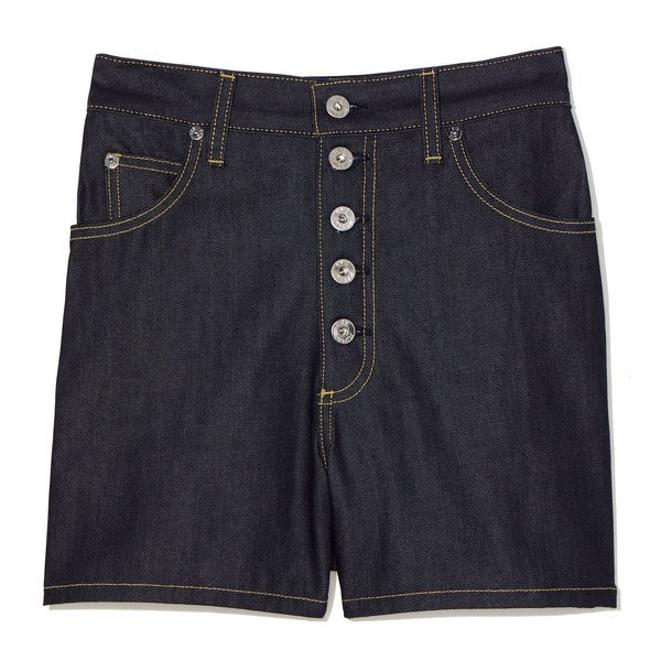 Eve Denim Leo Button-Fly Denim Shorts