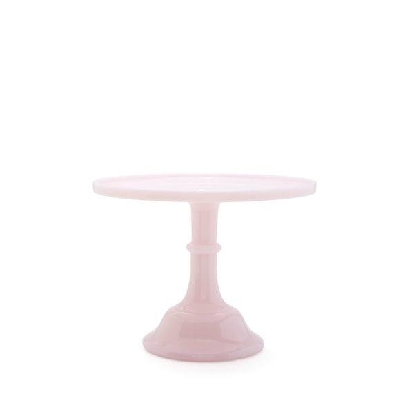 "Mosser Glass Pink Glass Cake Stand, 10"""