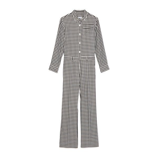 Sonia Rykiel Combination Checked Jumpsuit