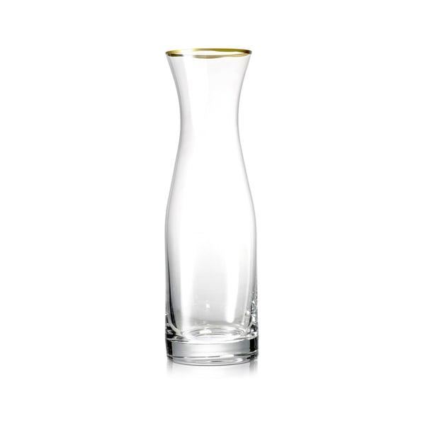Summerill & Bishop  Glass Water Carafe with Gold Rim