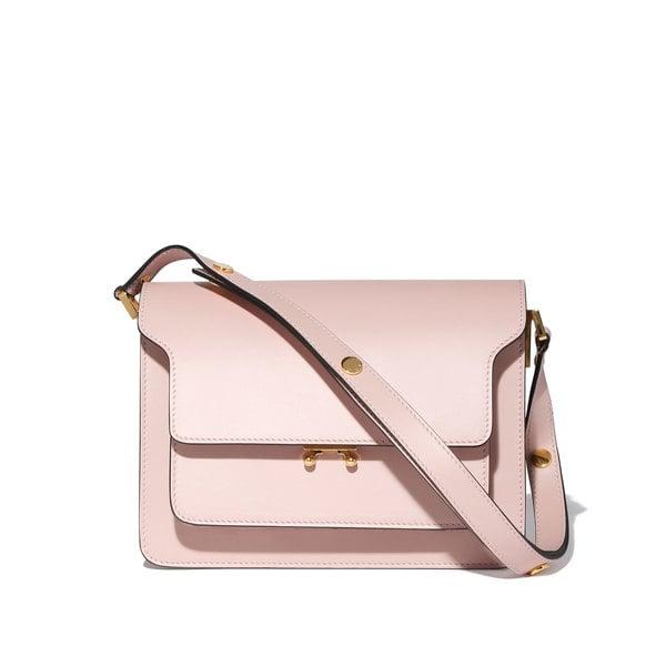 Marni Pink Leather Shoulder Bag