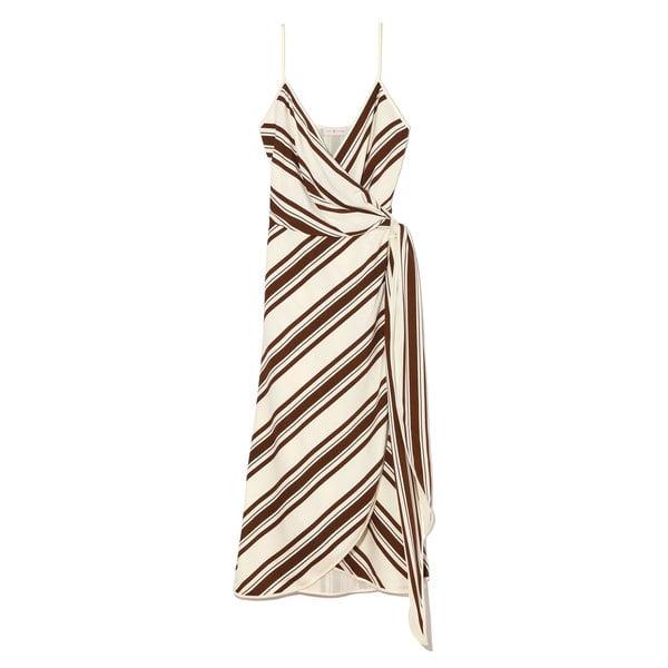 Tory Burch Grotto Striped Wrap Dress