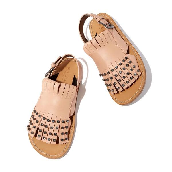 Marni Light-Pink Jeweled Sandals