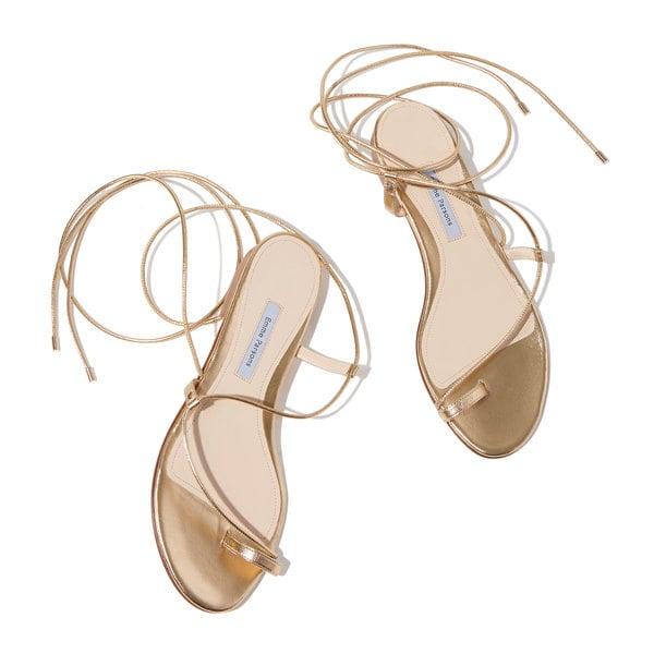 Emme Parsons Gold Leather Susan Sandals