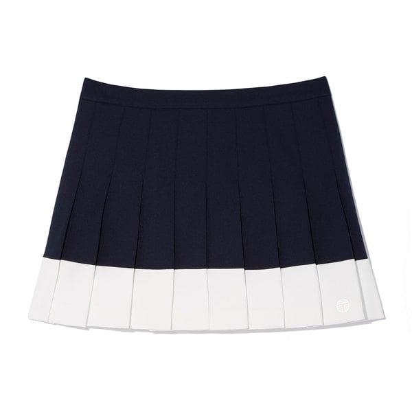 Tory Sport Color-Block Pleated Tennis Skirt