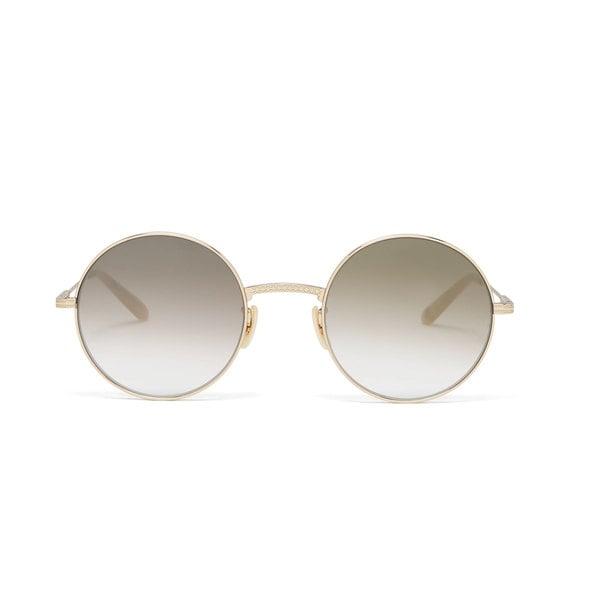 Garrett Leight  Seville 48 Round Sunglasses