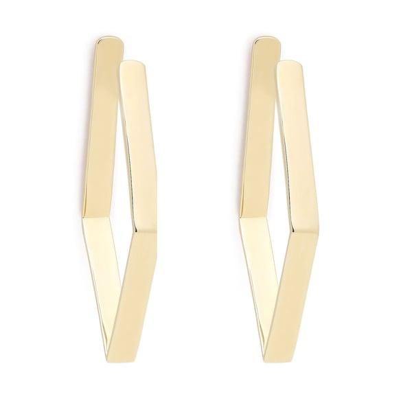 Jennifer Fisher Gold-Plated Small Diamond Shaped Hoops