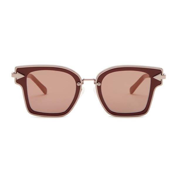 Karen Walker Rebellion Burgundy Sunglasses
