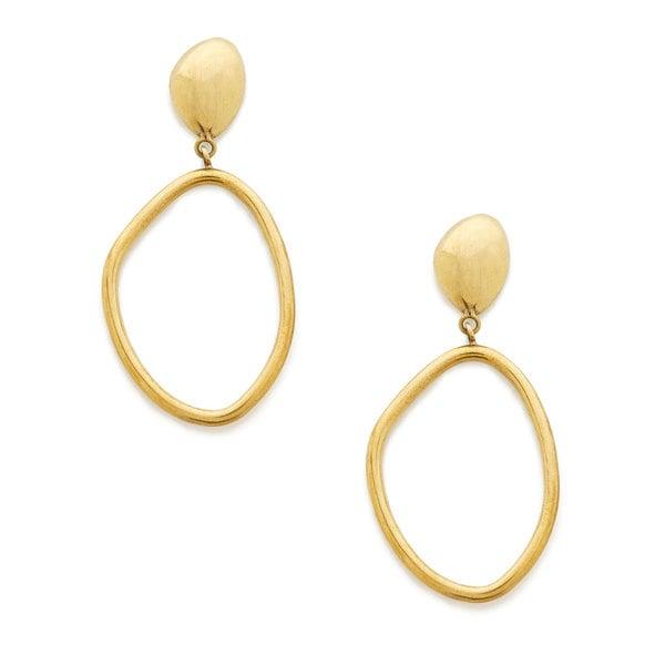 Soko Jewelry Sabi Large Drop Hoop Earrings