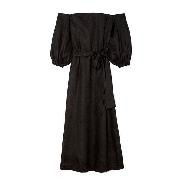 Lisa Marie Fernandez Rosie Linen Bubble-Sleeve Dress