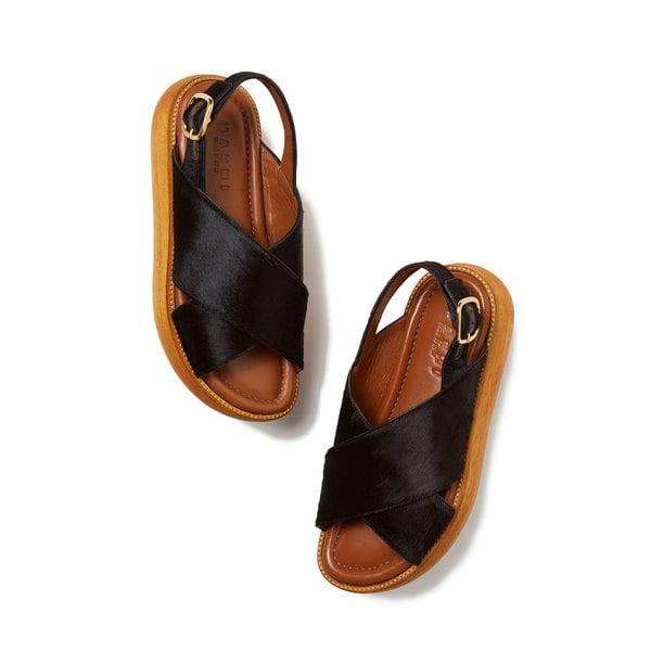 Marni Stacked Calf-Hair Flatform Sandals