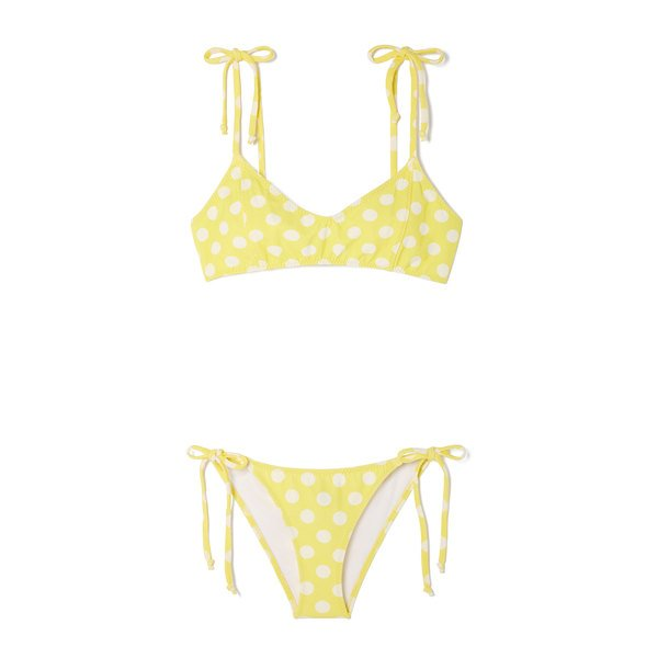 Lisa Marie Fernandez Nicole Crepe String Bikini
