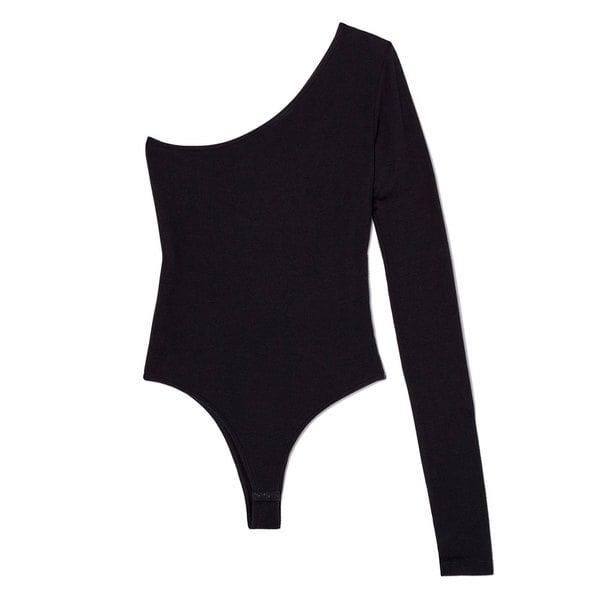 ATM Anthony Thomas Melillo Micromodal Rib Single Sleeve Bodysuit