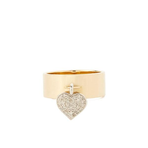 Nancy Newberg Heart Charm Ring