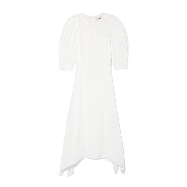 Khaite Cynthia Puff-Sleeve Dress