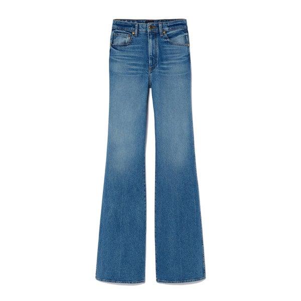 Khaite Reece Mid-Rise Flare Jeans