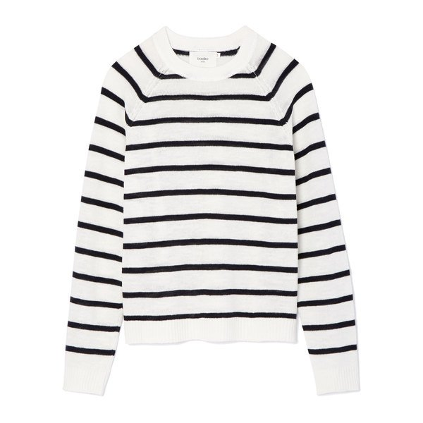 Bassike Stripe Cotton Linen Knit Top