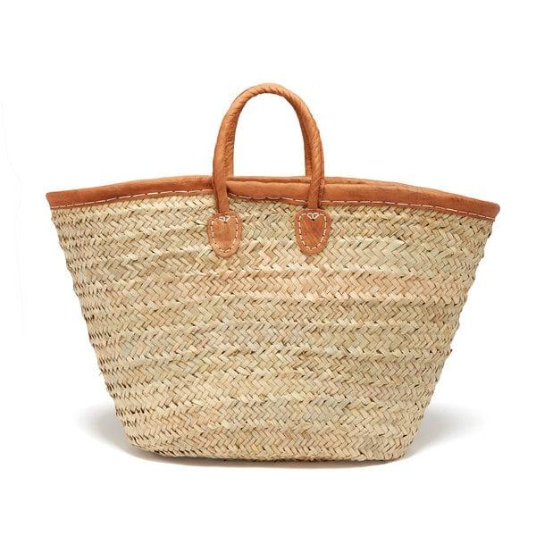 Medina Mercantile  Leather-Trimmed Market Basket