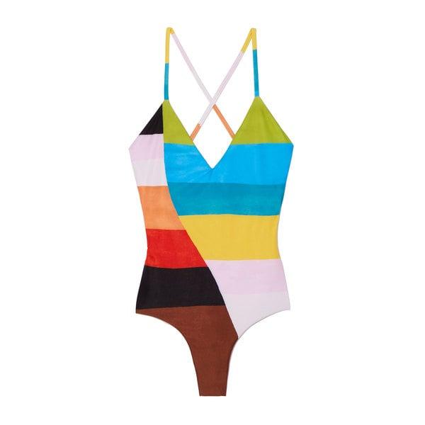 Mara Hoffman Emma One-Piece Color-Blocked Swimsuit