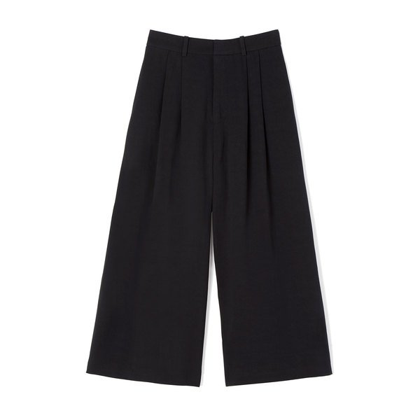 Co Tropical Cotton Black Culottes