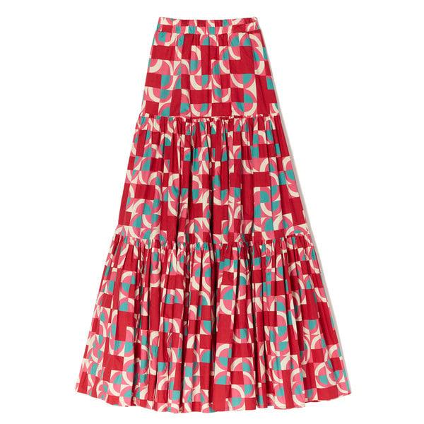 La DoubleJ Big Tiered Printed Skirt