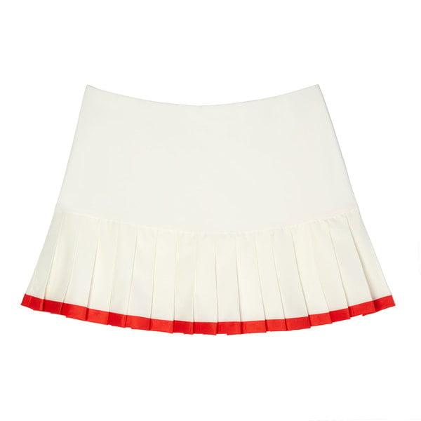 Tory Sport Pleated Contrast Hem Tennis Skirt