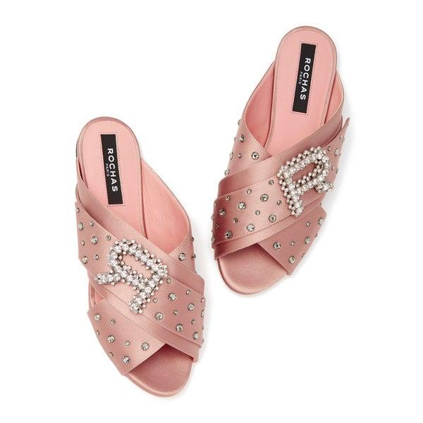 Rochas Raso Embellished Sandals