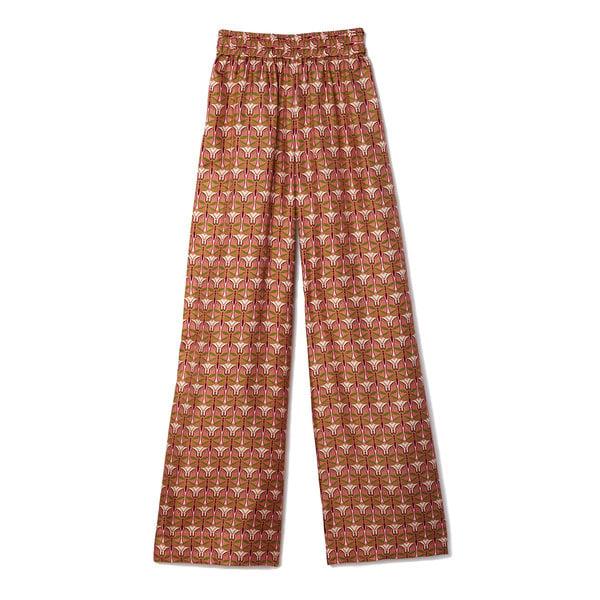 La DoubleJ Palazzo Printed Silk Pants